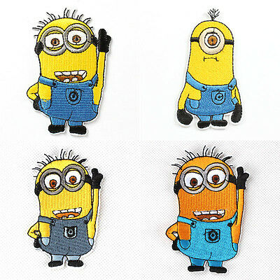 """4pcs Cartoon """"M"""" Fabric Embroidered Iron/Sew On Patch Motif Appliqué Embroidery"""