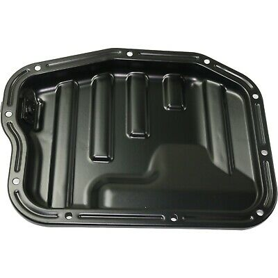 Oil Pan for 2002-2006 Nissan Altima 2.5L 4Cyl Eng 4.5 Qts. Cap. Lower Steel Blk.