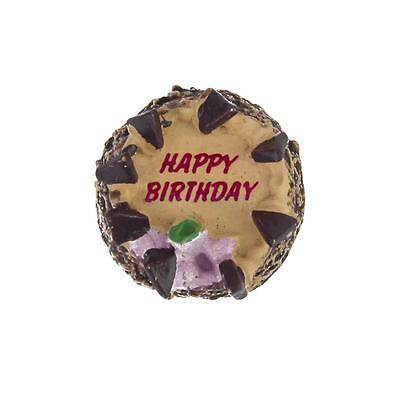 1/12 Doll House Miniature Food Chocolate Birthday Cake Favors for Barbie Doll