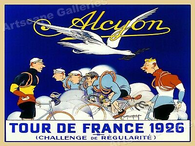 """1926 French Bicycle Race Poster - """"Alcyon - Tour de France"""" - 24x32"""