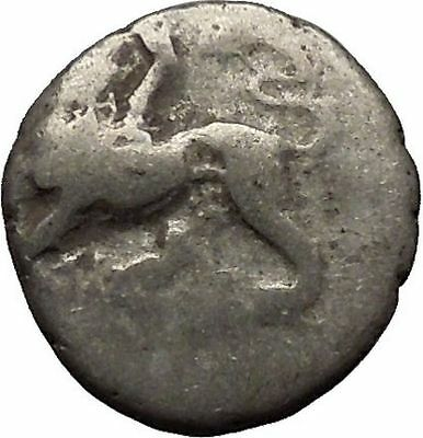 Sikyon in Sikyonia Chimera Lion Goat Snake Monster Dove Silver Greek Coin i46326