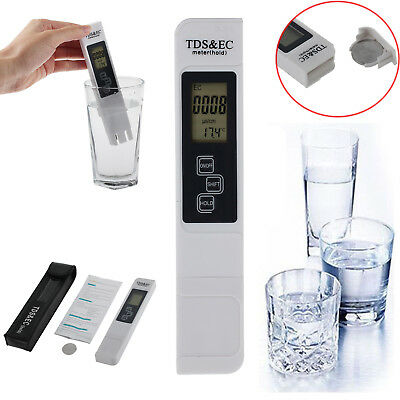 Digital TDS 3 Water Quality Tester Purity Meter TEMP PPM Test Filter Pen Stick
