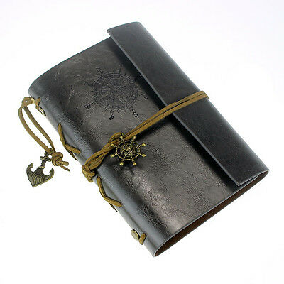 Vintage Leather Cover Notebook Journal Diary Blank String Nautical BK Excellent