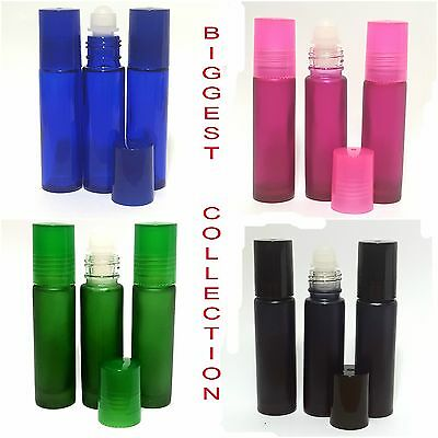 *EMPTY GLASS ROLL ON BOTTLES  LIQUIDS & PERFUME OIL REFILLABLE aromathery bottle