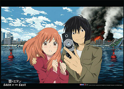 Eden of the East Saki and Akira Cellphone Pic GE5863 Anime Poster WALL SCROLL XL