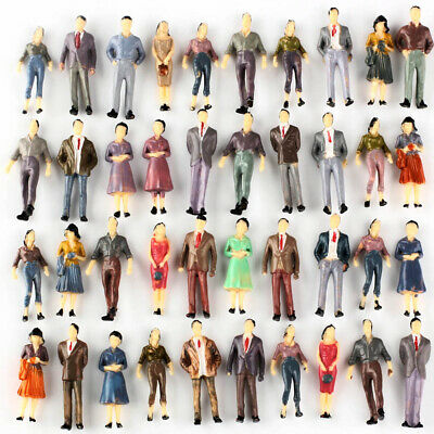 100 Model People Figures Passenegers Train Scenery 1:50 O Scale Mixed Color Pose