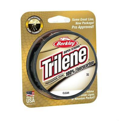 BERKLEY TRILENE 100% FLUOROCARBON FISHING LINE 110YD or 200YD SPOOL CHOOSE SIZE