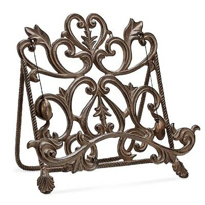 Classic Cookbook Holder Stand Display Easel Heart Metal Entertaining Collection