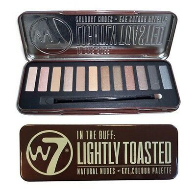 W7 In The Buff Lightly Toasted Eye Shadow Pallet 12 Shades