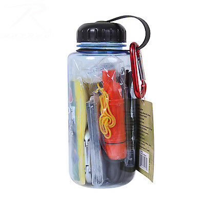 Rothco Water Bottle / Survival Kit - Blue