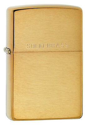 Zippo Brushed Brass Lighter, WIth Solid Brass, Item 204, New In Box