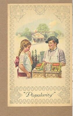 c1920 Norman Rockwell Popularity Post Cereal Toasties Battle Creek MI Adv Card