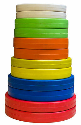 Strength Shop Coloured Olympic Rubber Coated Plate (Pair) - weightlifting