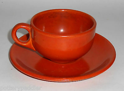 Catalina Island Pottery Toyon Red Coffee Cup & Saucer Set!