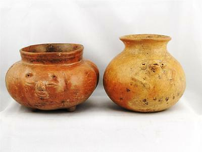 Antique Pair Of Pre Columbian Central American Pottery, Excellent Condition