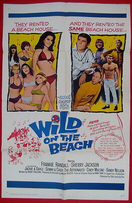 Wild On The Beach 1965 USA one sheet movie poster Sonny & Cher