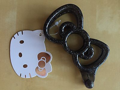 Sanrio Original Hello Kitty Black Plastic Hair Clip / Barrette Japan Exclusive
