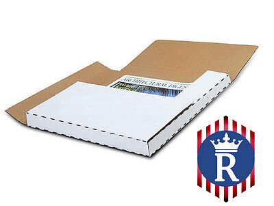 "100 LP RECORD ALBUM  ( PREMIUM ) BOOK OR BOX Mailers 1/2 & 1"" Depth"