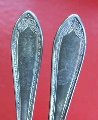 two Community silver plate plated butter knives knife