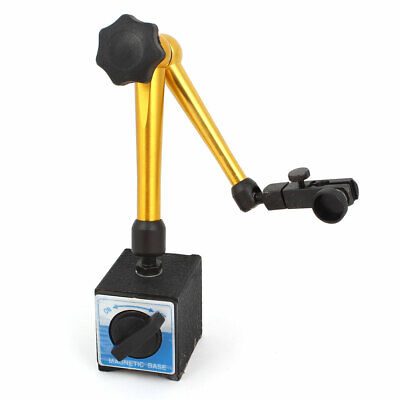 Black Gold Tone Magnetic Switch Bass Holder Stand For Dial Test Gauge Indicator