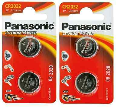 4 Pile Batterie Panasonic Cr2032 3V Litio Convenienza 2032 Cr 2032