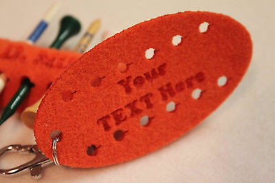 Personalized Engrave Custom Colour Felt GOLF TEE HOLDER