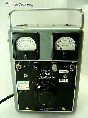 Used General Radio Type W10Mt3A Metered Variac Autotransformer - Tested!