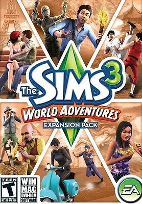 PC GAME THE SIMS 3 WORLD ADVENTURES BRAND NEW & FACTORY SEALED