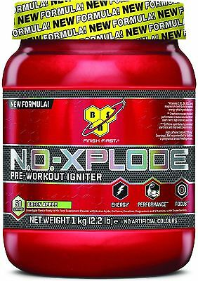 BSN NO-Xplode 3.0 N.O NEW 50 serv Pre-Workout 1KG Nitrix Oxide GREEN APPLE CHEAP