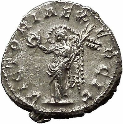 VALERIAN I 256AD Rome mint Silver Ancient Roman Coin Victory Nike Cult  i46273