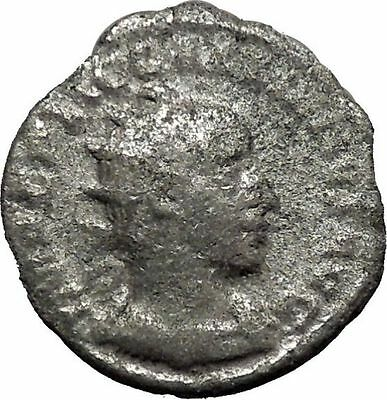 GALLIENUS Rare Milan mint Joint reign Silver Ancient  Roman Coin Harmony i46411