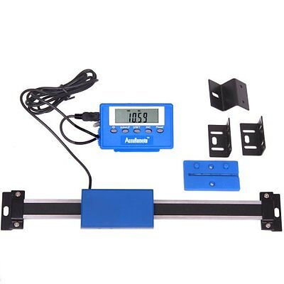 "12"" Stainless Steel Digital Remote Readout DRO Quill Table Scale for Mill Lathe"