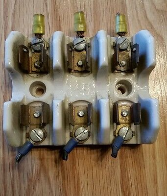 Union 388-403 2503 Ceramic Porcelain Fuse Holder 250V 30A