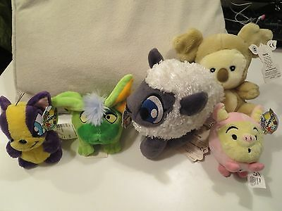 Neopets Plushie Plush Petpets Harris, Babaa and Mini Snorkle, Mortog and Mazzew
