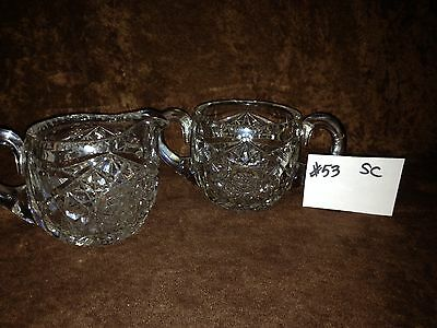 American Brilliant Cut Glass Sugar and Creamer #53SC