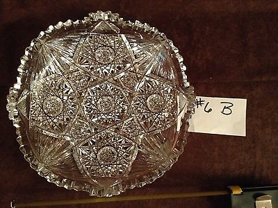 American Brilliant Cut Glass Bowl #6B