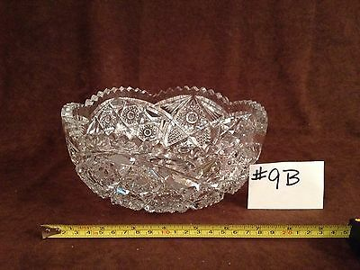 American Brilliant Cut Glass Bowl #9B