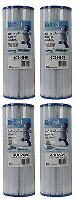 4) New Unicel 4CH-949 Pool Spa Waterway Replacement Filter Cartridges 50 Sq Ft