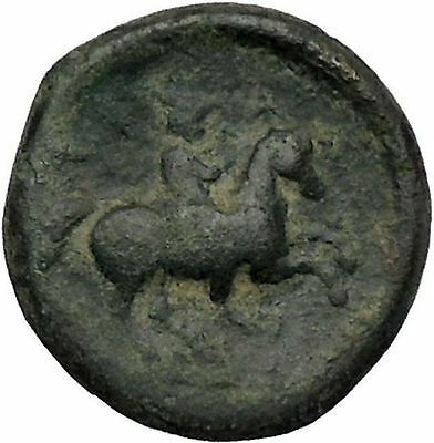 KRANNON in THESSALY 300BC Poseidon Horse man Ancient Greek Coin  i46498