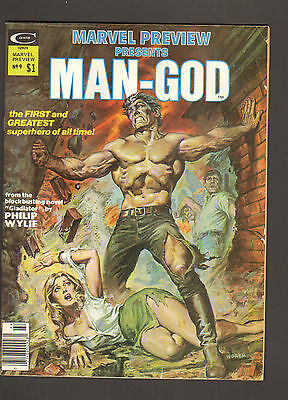 1976 Marvel Preview Presents Man God #9 ~ VF+ WH