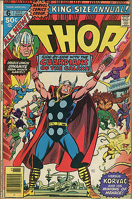 King-Size Annual Thor #6 - Guardians Of The Galaxy App - 1977 (Grade 6.0) WH
