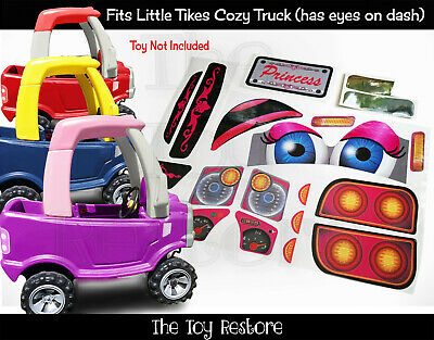 Replacement Decals fits Little Tikes Cozy Coupe Truck With Eyes Princess NL