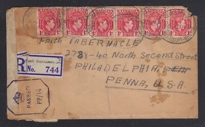 NIGERIA 1940s 3x CENSORED COVERS REGISTERED PORT HARCOURT & ABA TO PHILADELPHIA