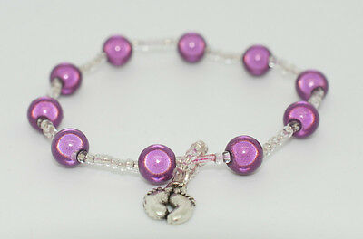 MATERNITY BABY FETAL KICK COUNTER BRACELET VARIOUS COLOURS by Velvet City Gifts