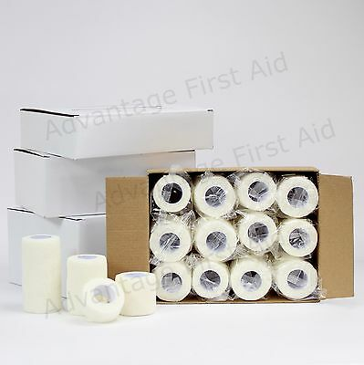 White Cohesive Elastic Bandage Head Sports Vet Wrap. 12 Rolls of  5.0 cm x 4.5m