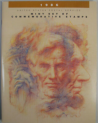1986 Us Usa Complete Mint Year Set Of Commemorative Stamps Booklet