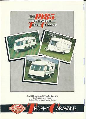 Trophy Gold, Silver And Medallion Ranges Caravan Brochure 1985 + Prices
