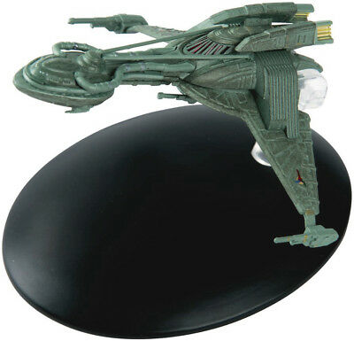 #35 Star Trek Klingon Bird Prey Die Cast Metal Ship-UK/Eaglemoss w Mag-USA Mail