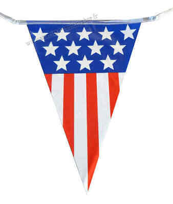 Huge 100 Feet Usa American Stars Stripes Thanksgiving Day Triangle Flag Bunting