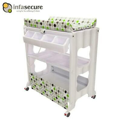 Br New Infa Secure Cosmo Baby Bath And Change Table Centre Changer Station Grn